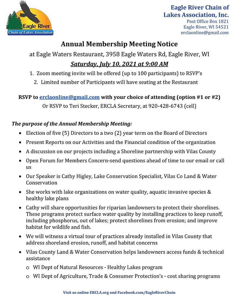 ERCLA 2021 Annual Meeting Notice and Agenda